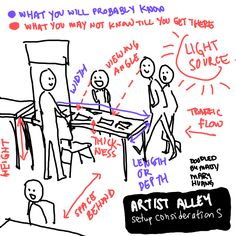 What to expect when tabling at a convention or artist alley.