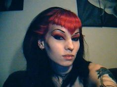 Makeup! And if I ever remove my deathhawk, this will be my hairstyle of choice.