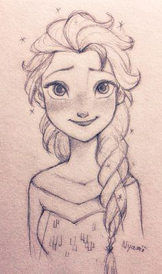 Nyamo ❄ 🌻 on, 2019 art cute disney drawings, frozen drawings Frozen Drawings, Cute Disney Drawings, Disney Princess Drawings, Disney Sketches, Cute Drawings, Art Disney, Disney Ideas, Art Drawings Sketches, Pencil Drawings