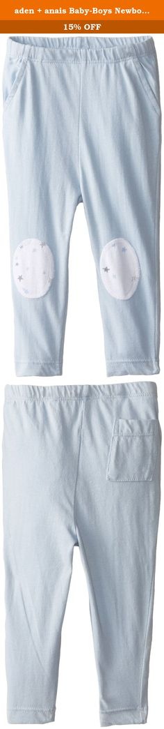 aden + anais Baby-Boys Newborn Jersey Pants, Night Sky Blue, 3-6 Months. Introducing our new addition aden + anais baby clothing for 0-12 months. We've taken our obsession with muslin to the next level with our first line of baby clothing. It's breathable, incredibly soft and the added touch of stretch makes it perfect for all of baby's most wearable essentials. We've taken soft, cozy jersey and added knee patches in our signature prints (a must for little crawlers). The result is a comfy...