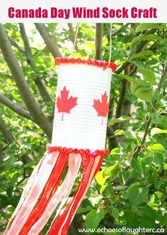 Canada Day Wind Sock Craft- so cute & fun for kids!