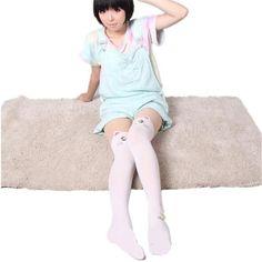 Hot Anime Sailor Moon Cosplay Costume Women Luna Cat Socks Pantyhose Silk Tights Leggings Stockings Black And White Free Ship