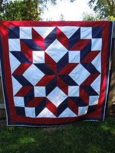 20% OFF! Enter code HOLIDAY at checkout #mollyrosequilts #modernquilt #Christmasgift ON SALE Red White and Blue Lap Quilt by MollyRoseQuilts on Etsy