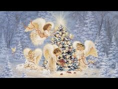 Silent Night, Gentle Light - Dona Gelsinger - Fine-Art Print -christmas art prints and posters Christmas Music, Christmas Angels, Merry Christmas, Christmas Fabric, Christmas Nativity, Diy Crafts Kits, Diy Angels, Mosaic Pictures, Cross Paintings