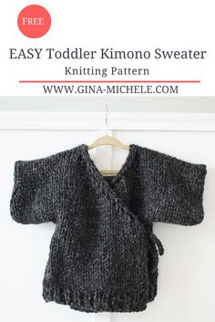 EASY Toddler Kimono Sweater- FREE Knitting Pattern