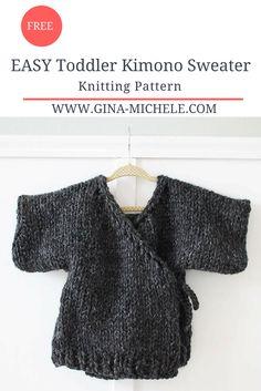 5ad78425f0a752 EASY Toddler Kimono Sweater- FREE Knitting Pattern Toddler Knitting  Patterns Free