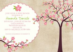 baby girl shower invitations shabby chic with by katiedidesigns, $13.00