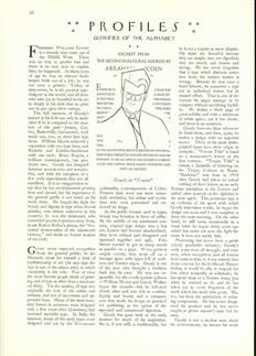 """The New Yorker profiled Goudy as """"Glorifier of the Alphabet""""."""