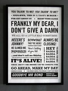 movie quotes poster