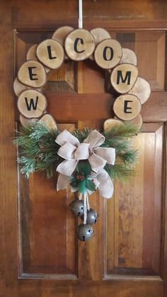 29 Perfect Diy Christmas Wearth Decoration Ideas Diy christmas decorations are fun projects to do with your family and friends. At the same time diy christmas decorations will come in handy when you . Noel Christmas, Rustic Christmas, Christmas Ornaments, Diy Christmas Wreaths, Cheap Christmas, Wood Slice Crafts, Wooden Crafts, Decorative Crafts, Holiday Crafts