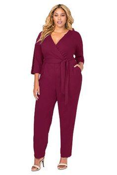 Plus Size Jumpsuit Cutout Sleeves