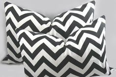 Two 12 x 18 inch  Decorative Pillow Cushion Cover  by kimoleydeco, $46.00