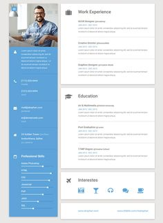 Calamar  Free Online Resume Template Sleek And Clean Multi