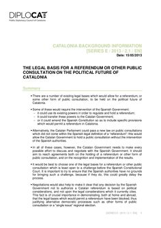 Legal Basis for a Referendum on the Political Future of Catalonia by Miqui Mel via Slideshare
