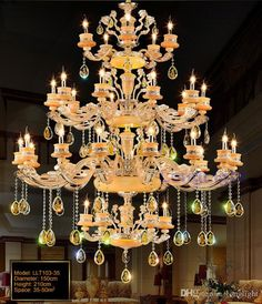 Modern Led Chandelier Luxury Large K9 Gold Crystal Chandeliers Lighting Zinc Alloy Lustre Cristal Upscale Lustre Living Room Lobby Hotel Chandelier Light Chandelier Table Lamp From Longlight, $924.63| Dhgate.Com