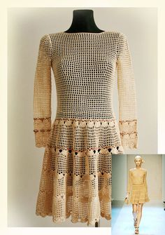 Women's dress / Crochet Pattern No 555 by CrochetDressPattern