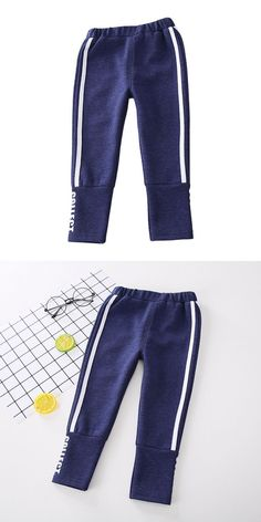 Boys cotton stripes design casual sports pants boys cargo sweatpants open  bottom  white  bottom 35e5b2e13