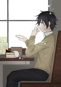Cute Anime Boy, Anime Love, Anime Guys, Manga Art, Manga Anime, Anime Art, Otaku, Cute Couple Wallpaper, Horimiya
