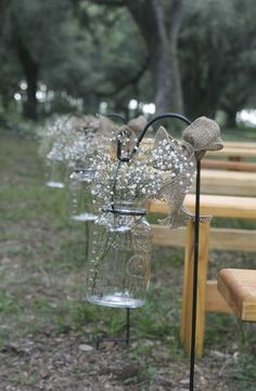 Hanging Mason Jar, Hanging vase/lantern, Wedding Decoration