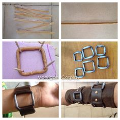 How to make belt buckles with worbla 1. Cut long stripe of worbla. 2. Heat it and roll it. (Repeat this step to make it thicker) 3. Use tooth stick in a foam to create a square and make the shape of...