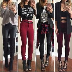 Image de Outfit, Mode und Stil Image de outfit, fashion, and style Teenage Outfits, Teen Fashion Outfits, Edgy Outfits, Cute Casual Outfits, Cute Fashion, Outfits For Teens, Fall Outfits, Summer Outfits, Womens Fashion