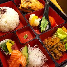 Salmon Teriyaki Bento @ Tokyo Diner, London (Japanese food)