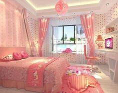 Hello Kitty Pink Bedroom girly pink bedroom home decorate hello kitty Hello Kitty Bedroom Set, Hello Kitty Rooms, Cat Bedroom, Kawaii Bedroom, Bedroom Themes, Bedroom Sets, Bedroom Decor, Decor Room, Trendy Bedroom