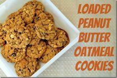 loaded peanut butter oatmeal cookies