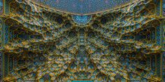 Mesmerizing Mosque Ceilings That Highlight The Wonders Of Islamic Architecture Fatima Masumeh Shrine, Qom, Iran Islamic Architecture, Amazing Architecture, Art And Architecture, 4k Wallpaper For Mobile, R Wallpaper, Heaven Wallpaper, Islamic World, Islamic Art, Psychedelic Drugs