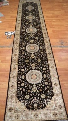 "2'6""x12' Runner Hand-knotted 200 kpsi Silk Oriental Persian Tabriz Rug 445"