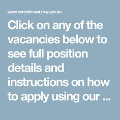 Click on any of the vacancies below to see full position details and instructions on how to apply using our fast on-line application process.