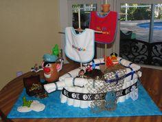 pirate ship diaper cake - Google Search                                                                                                                                                                                 More