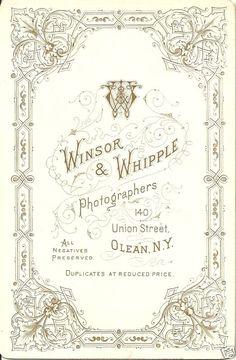 Winsor & Whipple, Photographers, Olean, NY, USA