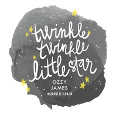 """""""Twinkle Twinkle Little Star"""" - Children's Custom Art Print by Lacie Cunningham. Calming Songs, Buy All The Things, Baby Posters, Star Children, Twinkle Twinkle Little Star, Custom Art, Art For Kids, Typography, Graphic Design"""
