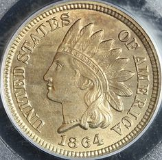 1864 Indian Copper Nickel Cent PCGS MS63 Copper Nickel $395.