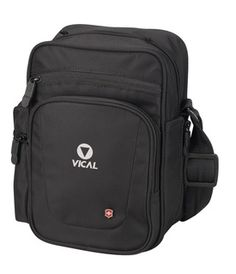 Vertical Travel Companion - 3-Way Carry Vertical Travel Tote. Unique ratchet system allows the pack to be worn as a waist pack, shoulder tote or across-the-body messenger bag. Large main compartment and front zippered organizational panel with key fob. Slash-proof wire-reinforced straps and elastic zipper pull cover protect against theft. 420D Nylon. Available in Black. $45