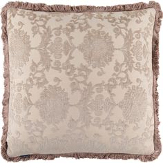"""Paoletti"" Beige Square Patterned Cushion 55cm x 55cm - TK Maxx"