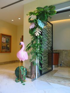 Vivienne's Tropical Pink Flamingo Themed Party – Birthday Edible Flowers, Pink Flowers, Warm Colors, Vivid Colors, Different Shades Of Pink, Painted Leaves, Tropical Fruits, Tropical Vibes, Paper Lanterns