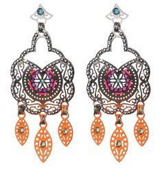 earrings Crochet Earrings, Mosaic, Bohemian, Pairs, Drop Earrings, Jewels, Jewellery, Crystals, Chic