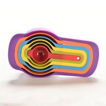 Kolorowe 6PCS Kuchnia Colourworks miarki Filiżanki łyżka Cup pieczenia Przybory Set Zestaw narzędzi pomiarowych Pomiar (Chiny (kontynentalne))