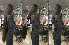 Long To Short Hair, Super Long Hair, Long Hair Cuts, Short Hair Styles, Girls Short Haircuts, Short Girls, Cut Her Hair, Beautiful Long Hair, Hair Pictures