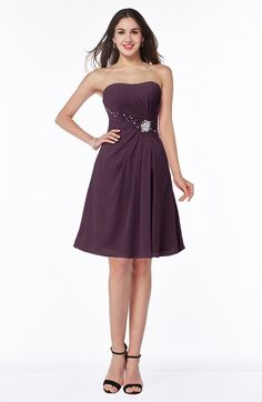 Glamorous Strapless Sleeveless Chiffon Beading Plus Size Bridesmaid Dresses