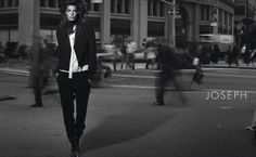 Daria Werbowy takes to the city streets for the spring 2011 campaign from Joseph. Lensed by Peter Lindbergh with styling by Marie-Amelie Sauvé… Daria Werbowy, Peter Lindbergh, Amelie, Joseph, Fashion Photography, Campaign, Style, Advertising, Management