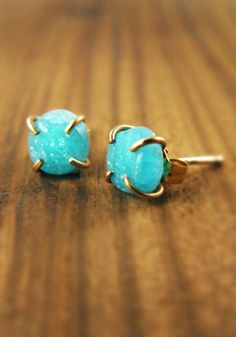 Hemimorphite Druzy earrings by Melissa Joy Manning