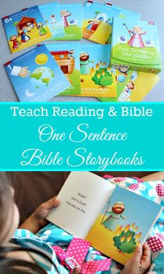 Teach Reading and Bible Stories with One Sentence Bible Storybooks Bible Activities For Kids, Bible Resources, Preschool Bible, Bible For Kids, Teaching Activities, Preschool Ideas, Preschool Classroom, Teaching Ideas, One Sentence Stories
