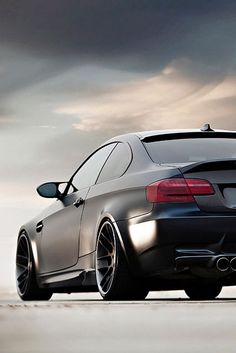 BMW E92 M3 matte black on BBS rims