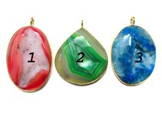 24 kt Gold Plated Druzy Pendants  1 piece of fine by finegemstone, $26.00