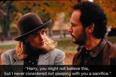 """""""Harry, you might not believe this.."""" ~ When Harry Met Sally (1989) ~ Movie Quotes #amusementphile"""
