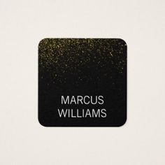#Modern Sophisticated Gold Dust / Black Square Business Card - #sophisticated #gifts #giftideas #custom