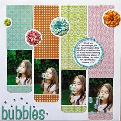 bubbles layout.... 4 small photos